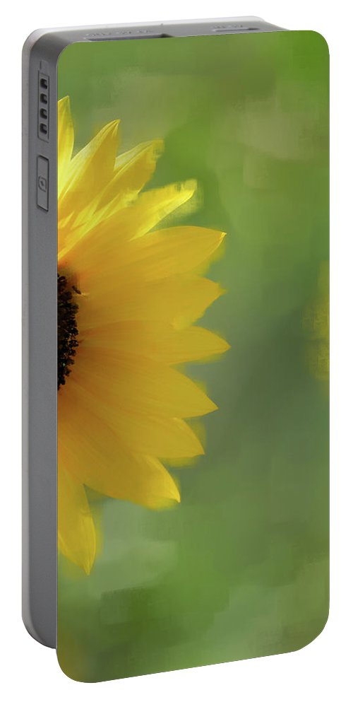 Sunflower Portable Battery Charger featuring the photograph Splash Of Yellow by Betty LaRue