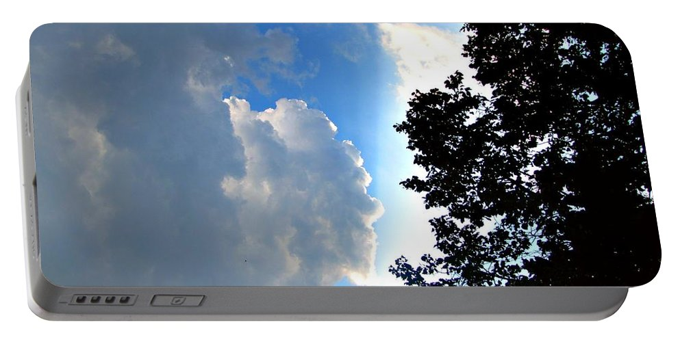 Split Sky Portable Battery Charger featuring the photograph Split Sky by Jessica Tolemy