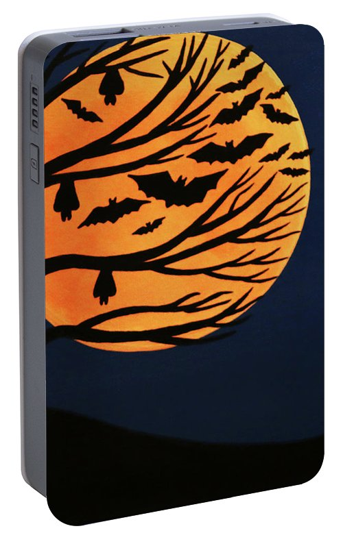 Spooky Bat Tree Portable Battery Charger
