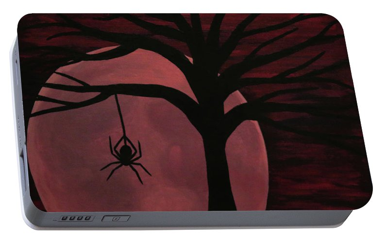 Spooky Spider Tree Portable Battery Charger
