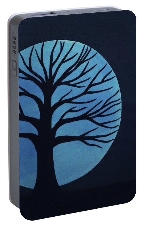 Spooky Tree Blue Portable Battery Charger