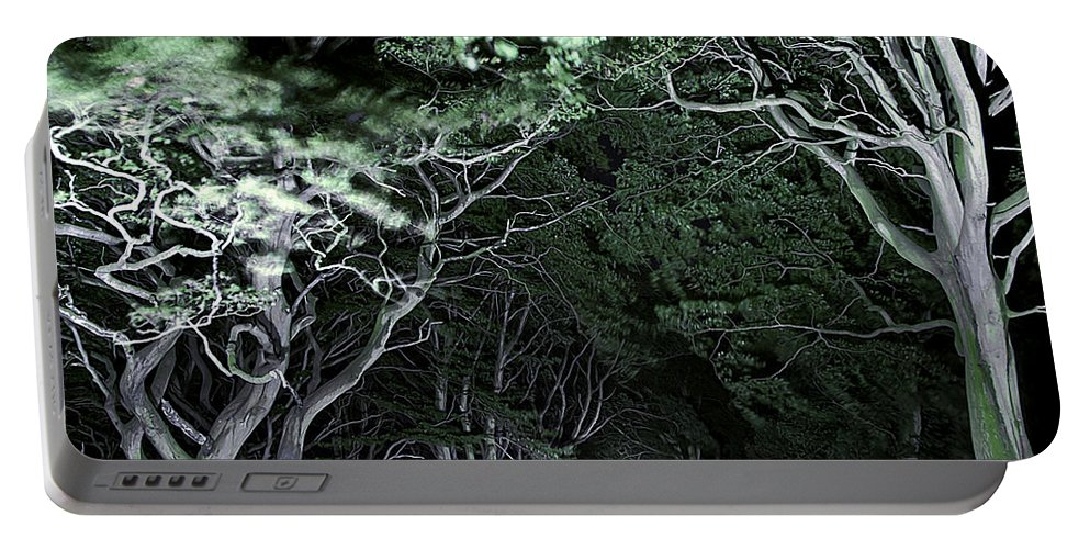Botanic Portable Battery Charger featuring the photograph Spooky Trees by Svetlana Sewell