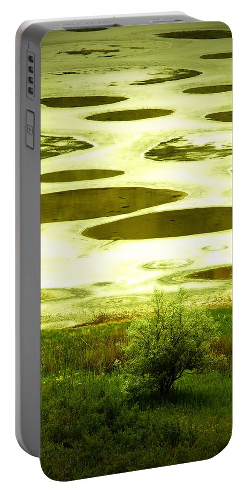 Spotted Lake Portable Battery Charger featuring the photograph Spotted Lake by Tara Turner