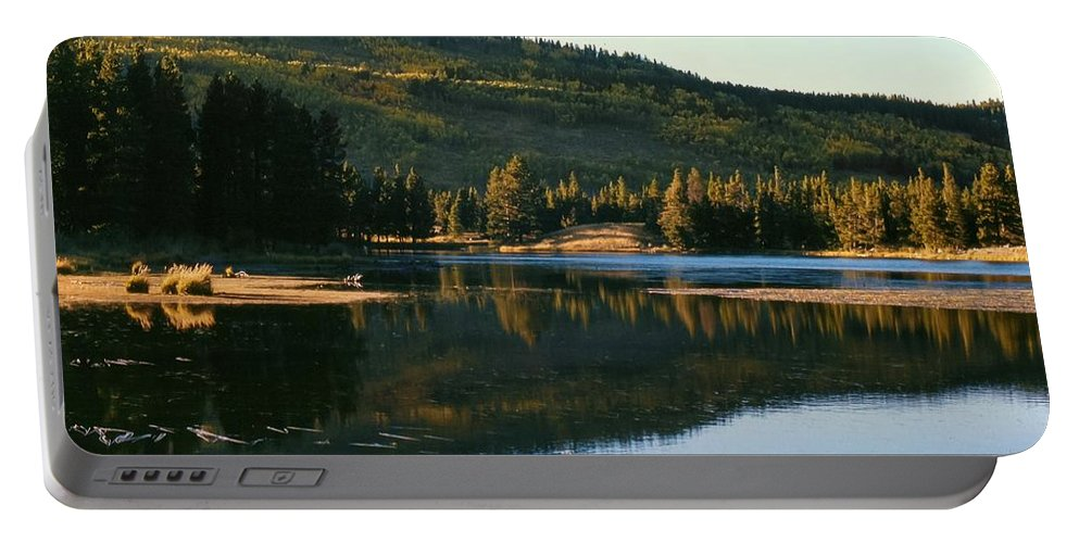 Sprague Lake Portable Battery Charger featuring the photograph Sprague Lake At Dusk Rocky Mountain National Park by NaturesPix