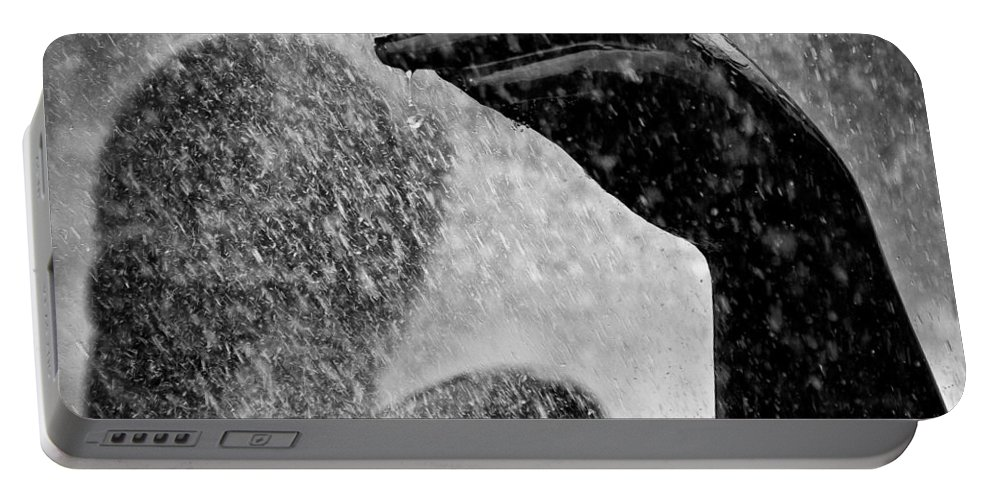 Fountain Portable Battery Charger featuring the photograph Spray by Dave Bowman