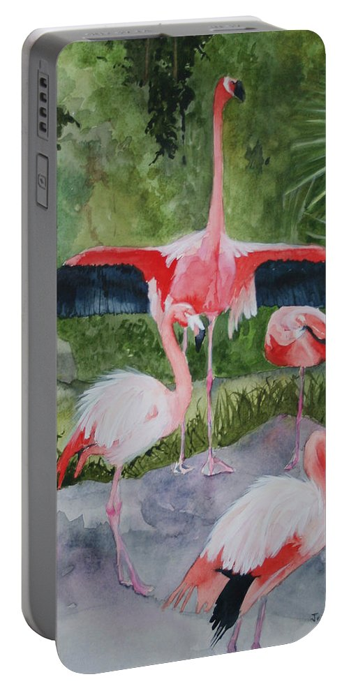 Wings Portable Battery Charger featuring the painting Spreading My Wings by Jean Blackmer