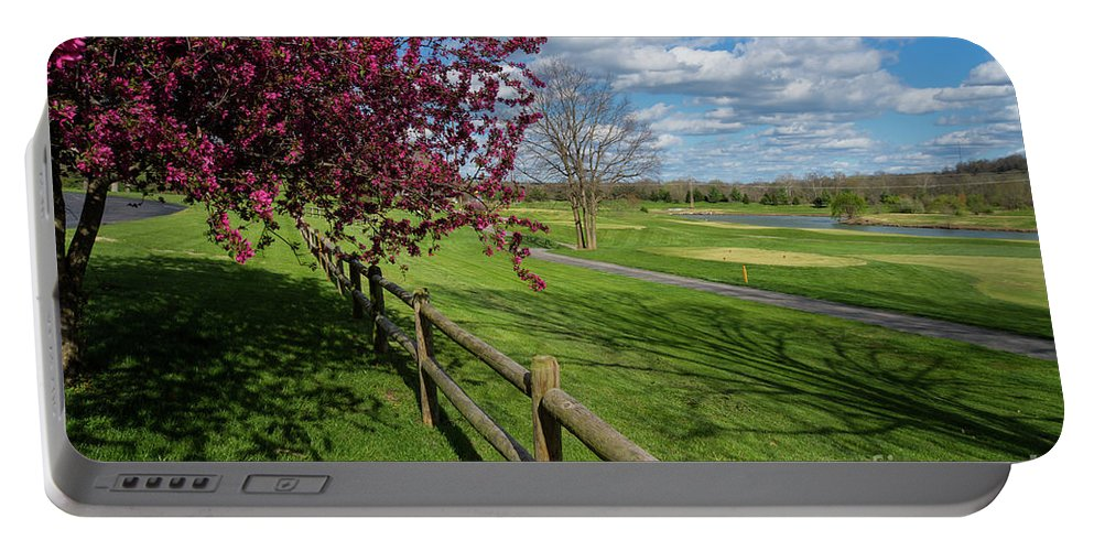 America Portable Battery Charger featuring the photograph Spring At Rivercut by Jennifer White