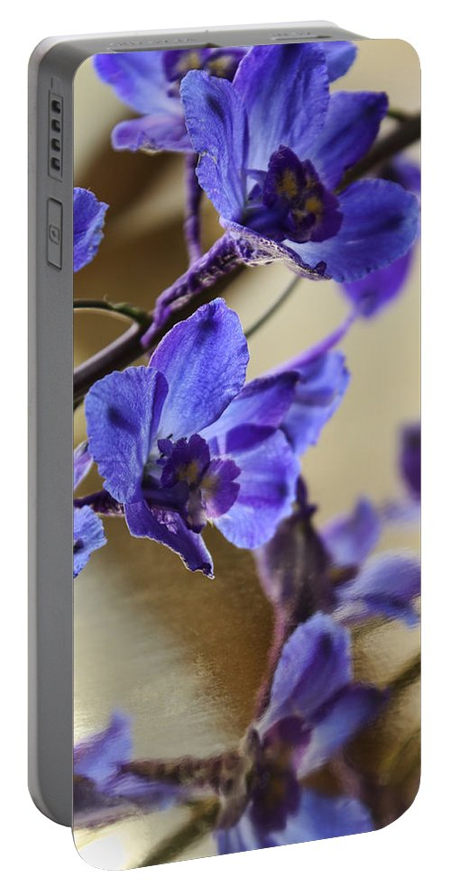 Macro Portable Battery Charger featuring the photograph Spring Blooms by Lauren Radke