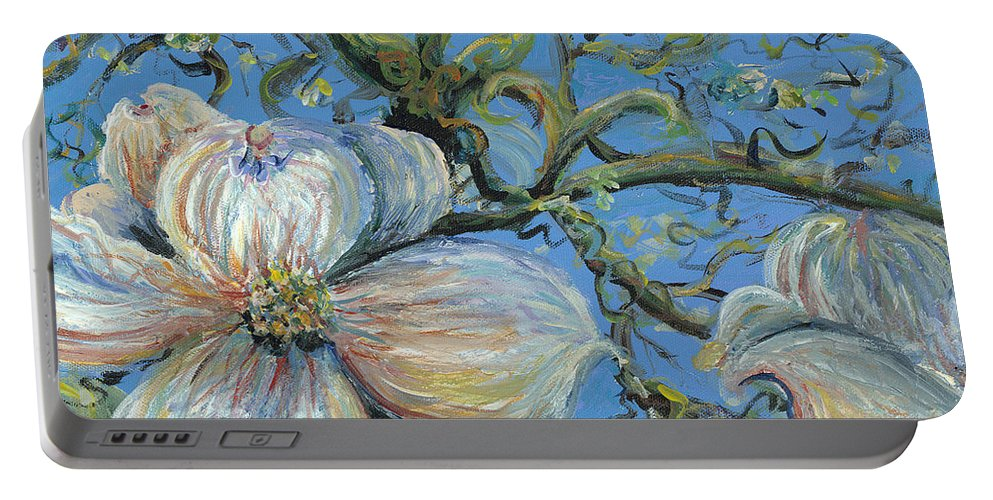 Flower Portable Battery Charger featuring the painting Spring Blossoms by Nadine Rippelmeyer