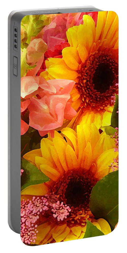 Roses Portable Battery Charger featuring the photograph Spring Bouquet 1 by Amy Vangsgard