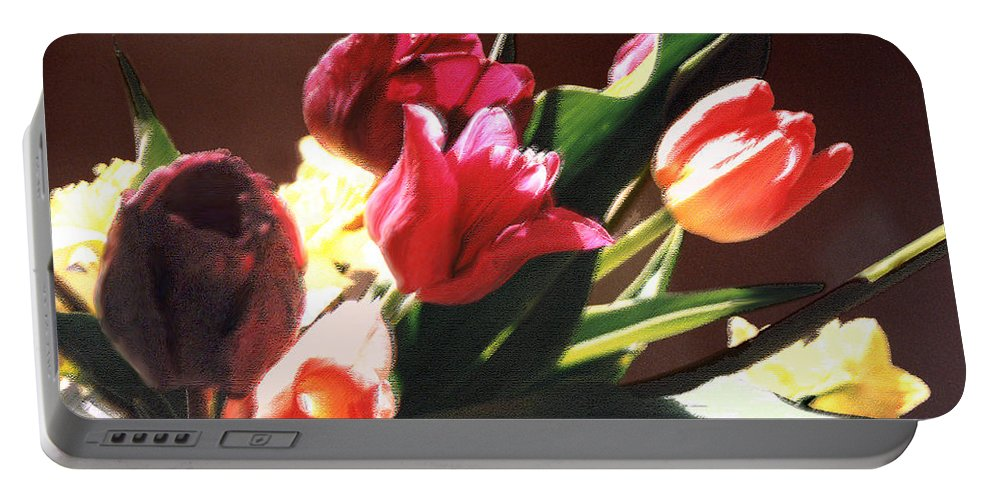 Floral Still Life Portable Battery Charger featuring the photograph Spring Bouquet by Steve Karol