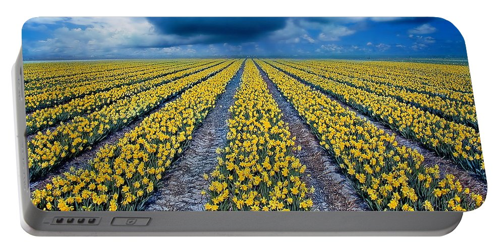 Flowers Portable Battery Charger featuring the photograph Spring Fields by Jacky Gerritsen