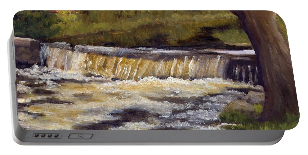 Water Portable Battery Charger featuring the painting Spring Flow by Sharon E Allen