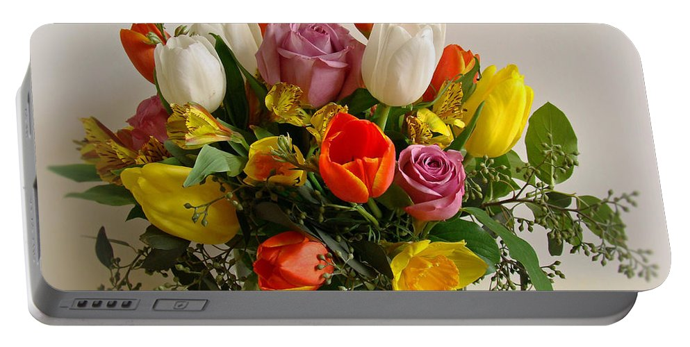 Flowers Portable Battery Charger featuring the photograph Spring Flowers by Sandy Keeton