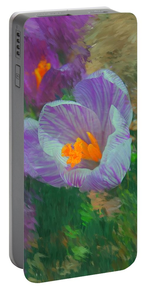Digital Photography Portable Battery Charger featuring the digital art Spring Has Sprung by David Lane