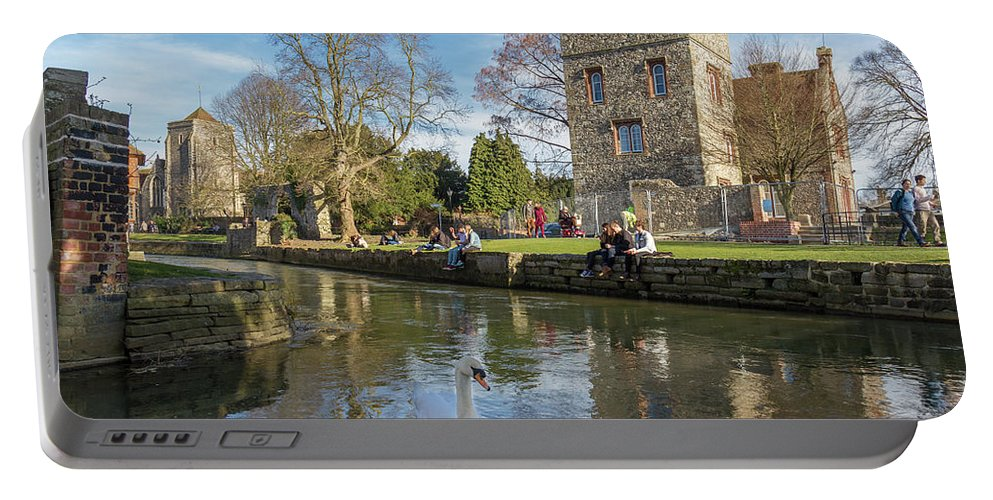 Bird Portable Battery Charger featuring the photograph Spring In Canterbury by Iordanis Pallikaras