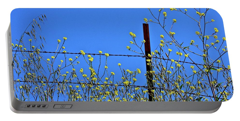 Flowers Portable Battery Charger featuring the photograph Spring In The Country by Diana Hatcher