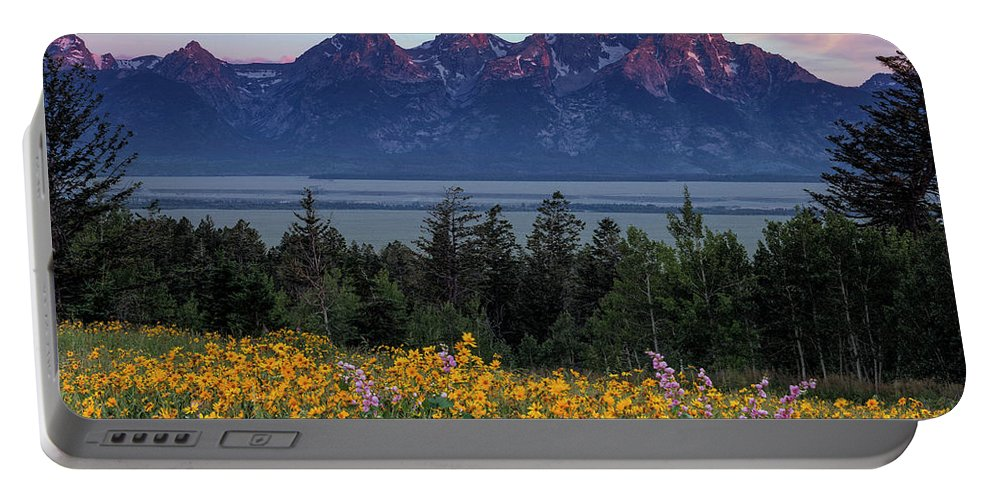 Spring In The Tetons Portable Battery Charger featuring the photograph Spring In The Tetons by Leland D Howard