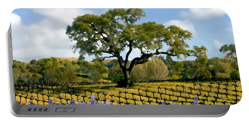 Vineyards Portable Battery Charger featuring the photograph Spring In The Vineyard by Kurt Van Wagner