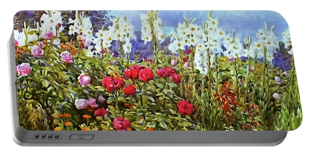 Spring Portable Battery Charger featuring the photograph Spring by Munir Alawi