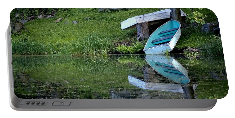 Lake Portable Battery Charger featuring the photograph Spring On The Lake by Patricia Bolgosano