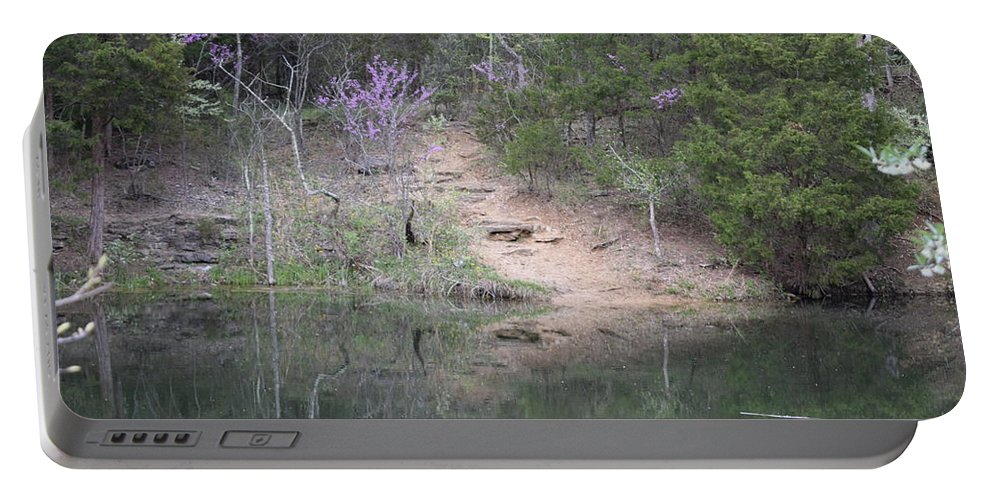Beautiful Portable Battery Charger featuring the photograph Spring Pond by Kayla Chapel