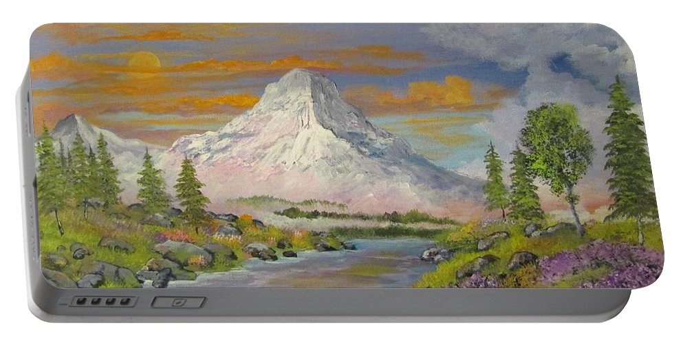 Portable Battery Charger featuring the painting Spring Time by Dave Farrow