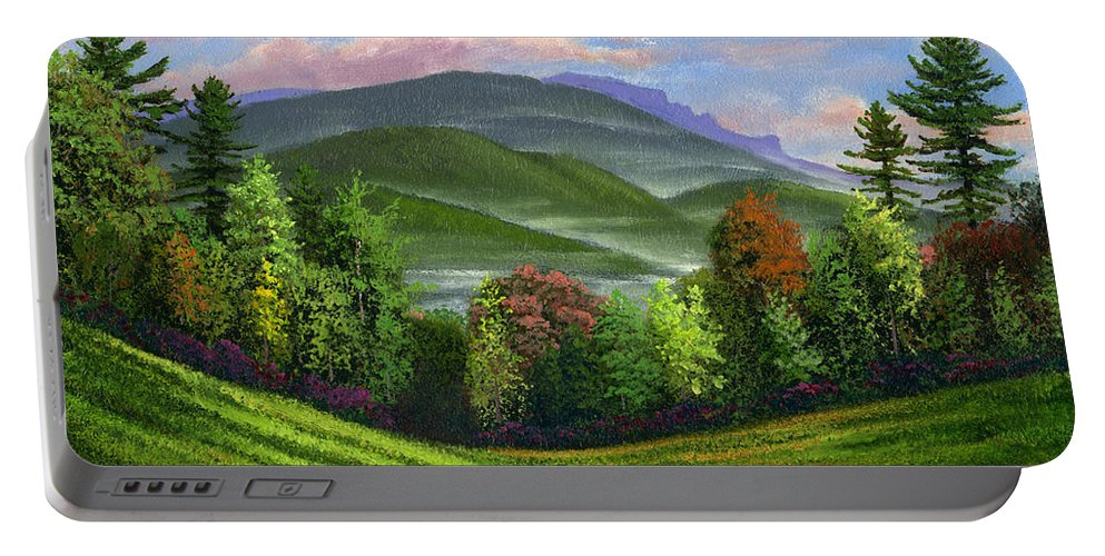 Landscape Portable Battery Charger featuring the painting Spring Time by Frank Wilson