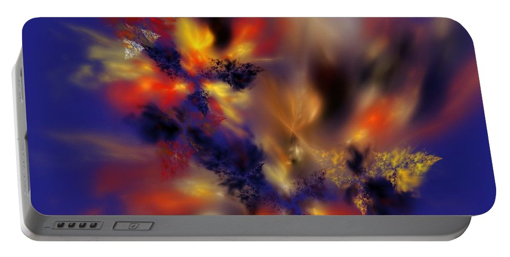 Digital Painting Portable Battery Charger featuring the digital art Springtime Explosion Of Life. by David Lane