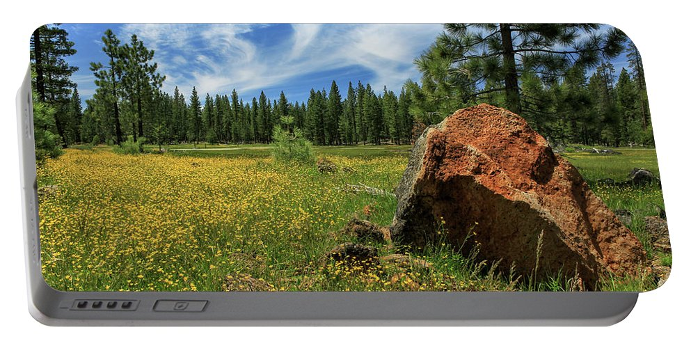 Landscape Portable Battery Charger featuring the photograph Springtime In Lassen County by James Eddy
