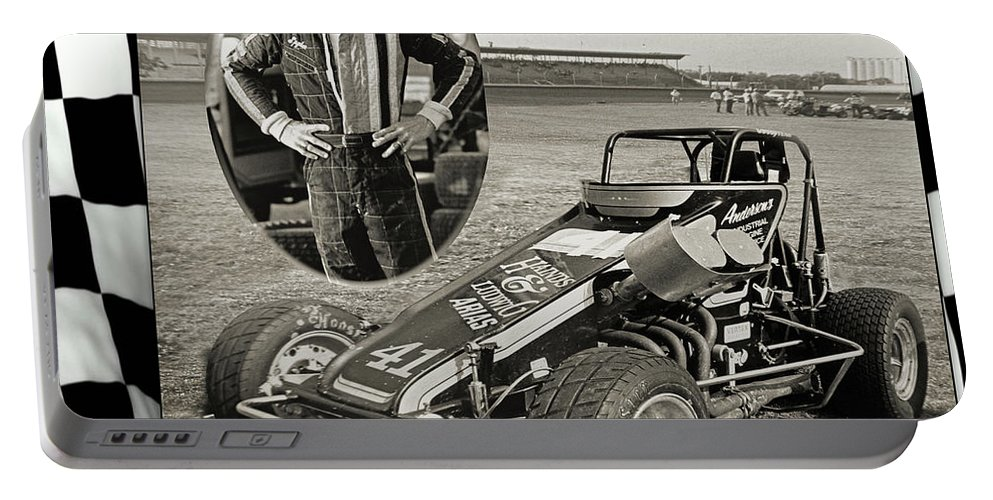 Racing Portable Battery Charger featuring the photograph Spyder by John Anderson
