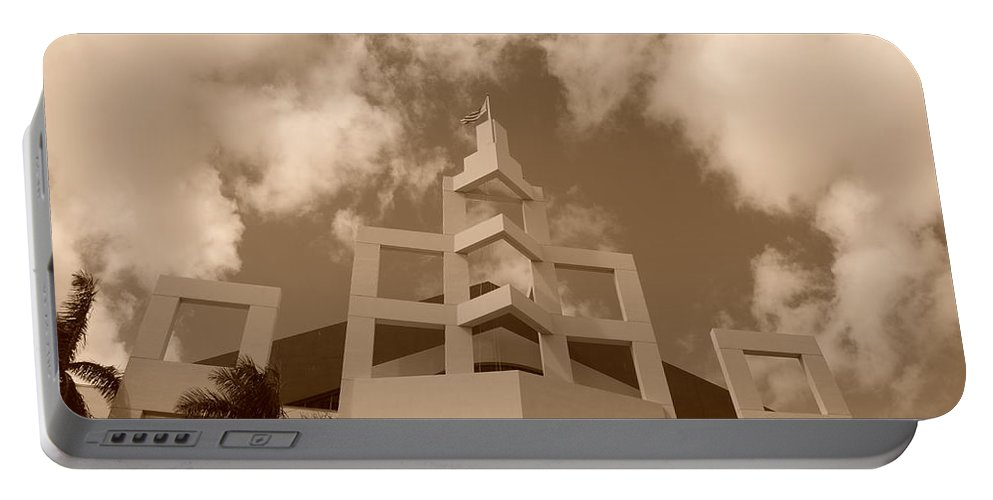Architecture Portable Battery Charger featuring the photograph Squares In The Sky by Rob Hans