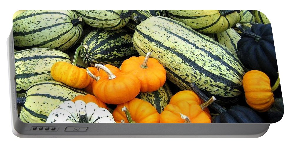 Squash Portable Battery Charger featuring the photograph Squash Harvest by Will Borden