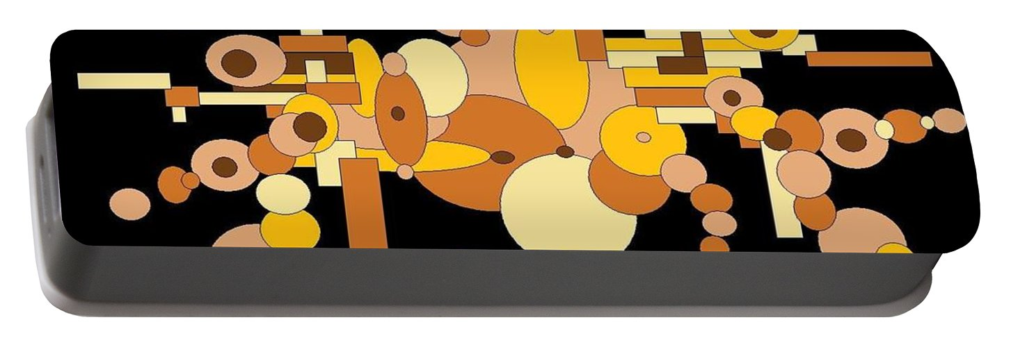 Digital Artwork Portable Battery Charger featuring the digital art Squiggly by Jordana Sands
