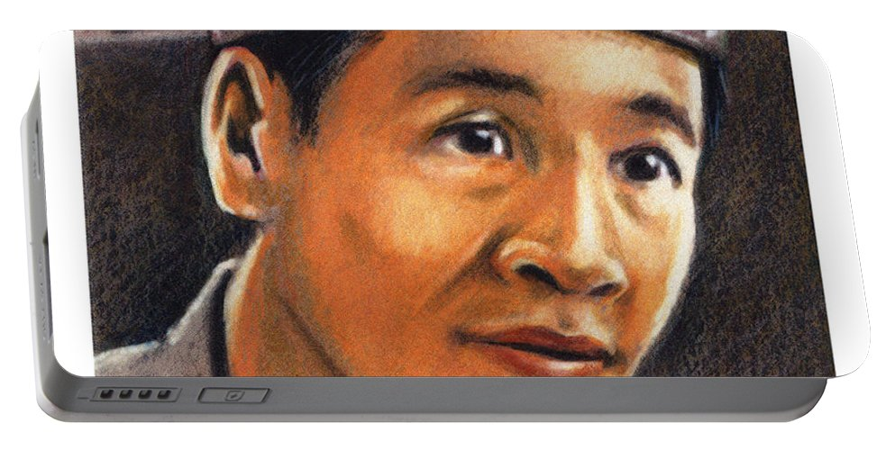 St. Andrew Dung-lac Portable Battery Charger featuring the painting St. Andrew Dung-lac - Jladl by Julie Lonneman