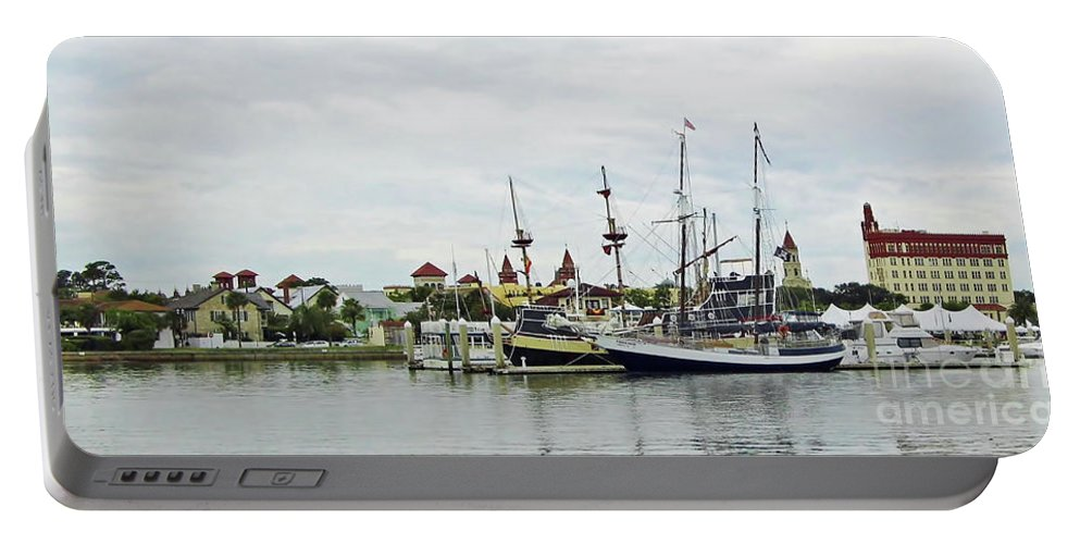 Dock Portable Battery Charger featuring the photograph St Augustine Marina From The Water by D Hackett