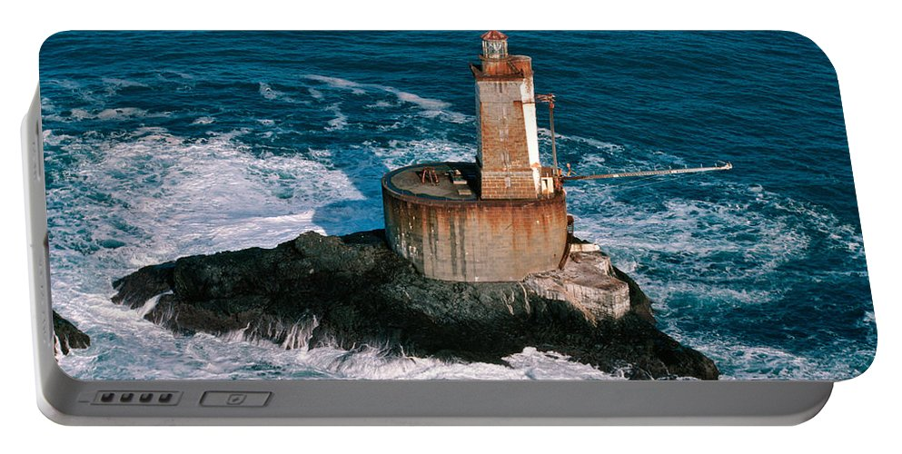 St. George Reef Light Portable Battery Charger featuring the photograph St. George Reef Light by Inga Spence