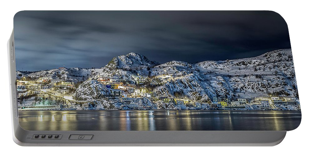 Newfoundland Portable Battery Charger featuring the photograph St.john's Battery by Andy Harding