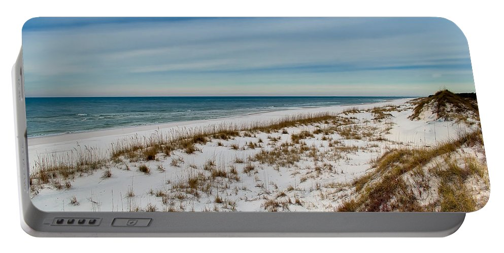 Sand Portable Battery Charger featuring the photograph St. Joseph Peninsula Dunes by Rich Leighton