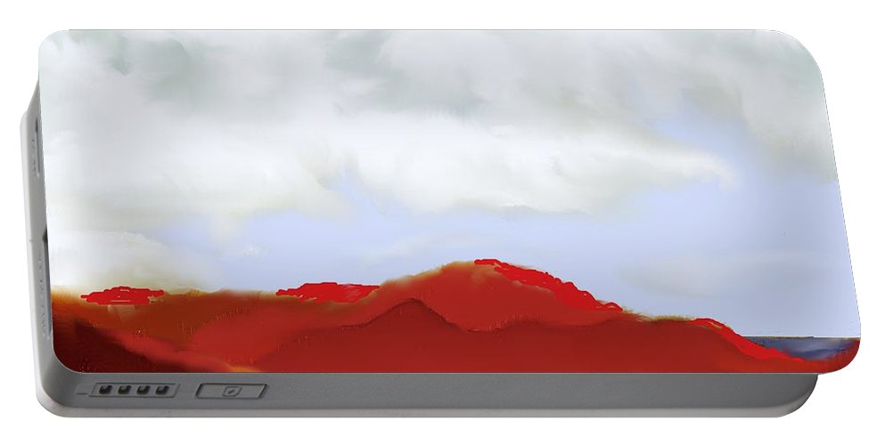 St Kitts Portable Battery Charger featuring the digital art St Kitts Peninsula by Ian MacDonald