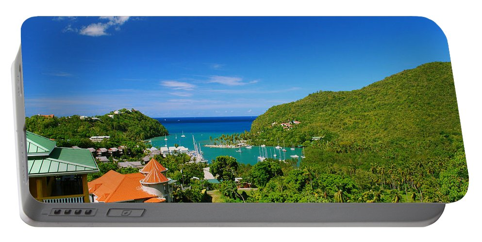 St. Lucia Portable Battery Charger featuring the photograph St. Lucia by Gary Wonning