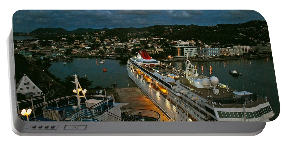 St.lucia Portable Battery Charger featuring the photograph St. Lucia In The Evening by Gary Wonning