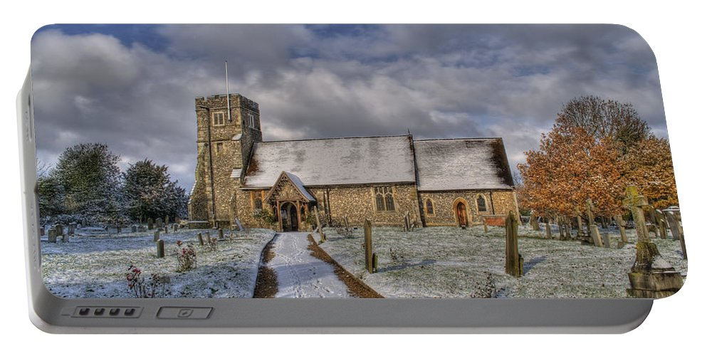 Church Portable Battery Charger featuring the photograph St Margarets Church Ridge Hertfordshire by Chris Thaxter