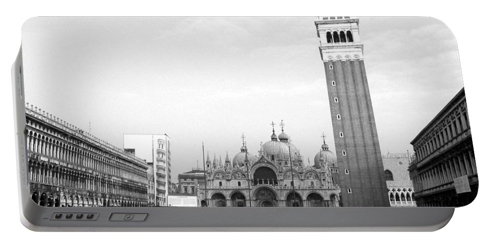 Venice Portable Battery Charger featuring the photograph St. Mark's Square by Donna Corless