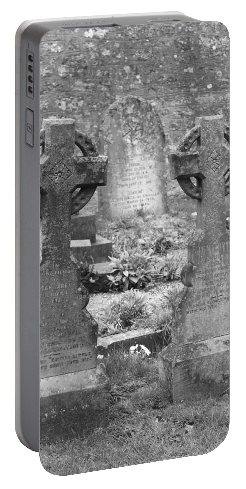 Tombstones Portable Battery Charger featuring the photograph St. Mary by Lauri Novak