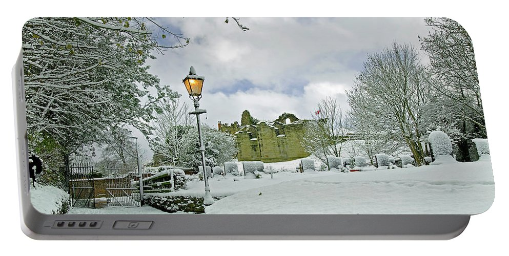 England Portable Battery Charger featuring the photograph St Mary's Churchyard - Tutbury by Rod Johnson