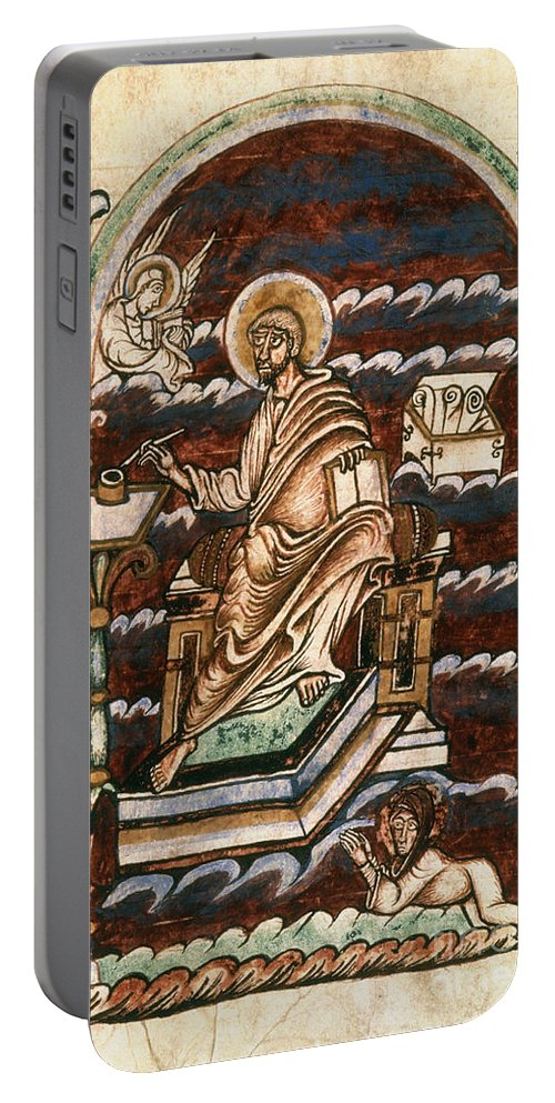 10th Century Portable Battery Charger featuring the painting St. Matthew, 10th Century by Granger
