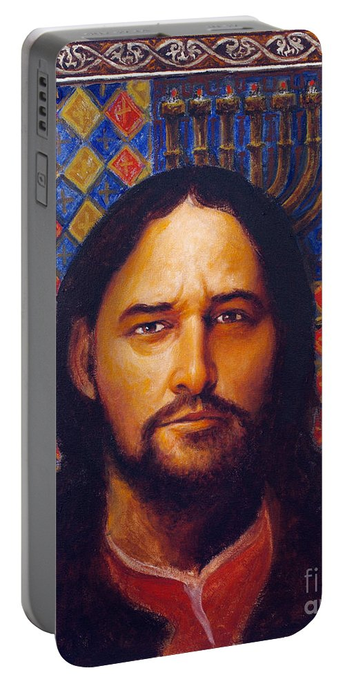 St. Matthew Portable Battery Charger featuring the painting St. Matthew - Lgmat by Louis Glanzman