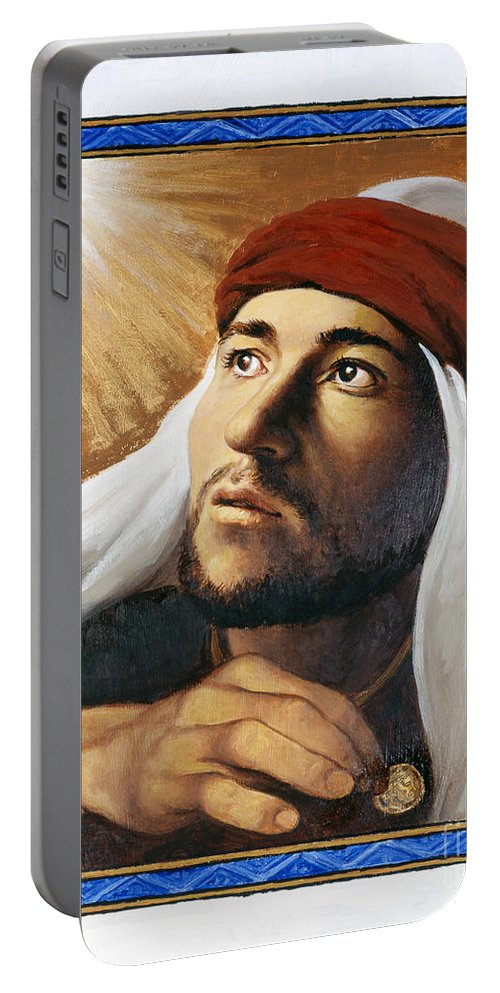 St. Matthew Portable Battery Charger featuring the painting St. Matthew - Lgmth by Louis Glanzman