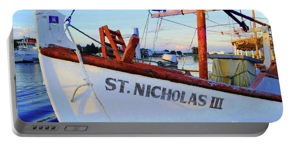 Ship Portable Battery Charger featuring the photograph St. Nicholas IIi by Jost Houk